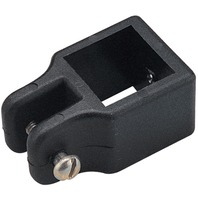 "SQUARE TUBE FITTINGS-Black Top Slide for 1"" OD Tube, Pin Size 3/16"" Set of Two"