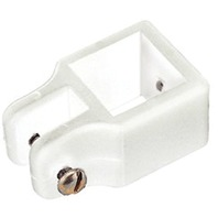 "SQUARE TUBE FITTINGS-White Top Slide for 1"" OD Tube, Pin Size 3/16"""