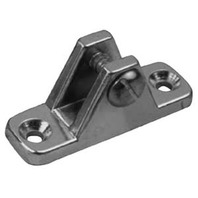 "TOP FITTINGS, ZINC/CHROME-90  Deck Hinge Base: 3/4""x 2-1/4"", Pair"