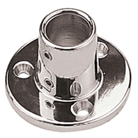 "286090-1 SEADOG BASE RAIL FITTING, CHROME-90 Deg Round 2-5/8"" base;  7/8"" Tube O.D."