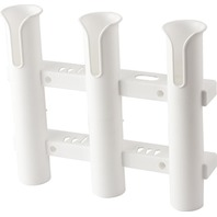 "WALL MOUNT 3-Rod Holder with Knife & Pliers Holder, 17""W x 11-11/16""H, White"