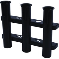 """WALL MOUNT 3-Rod Holder with Knife & Pliers Holder, 17""""W x 11-11/16""""H, Black"""