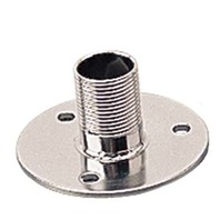 "FIXED ANTENNA BASE, 304 STAINLESS-1-1/2"" H, 3"" dia Base"