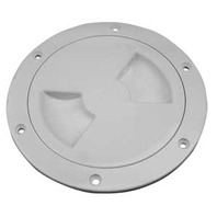 "Sea-Dog SCREW OUT DECK PLATE-4"" I.D.; White"