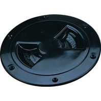 "SCREW OUT DECK PLATE-6"" I.D.; Black"