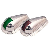 "SIDE LIGHTS, SS-4"" x 2-5/16"" (pair) Red & Green Boat Bow Lights"