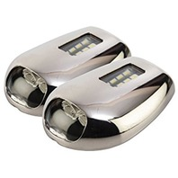 CREE LED STAINLESS STEEL DOCKING LIGHTS-Cree LED Stainless Steel Docking Lights, Pair