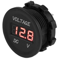 DIGITAL VOLTAGE METER-Round, 6-30V Meter