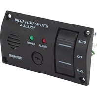 BILGE WATER ALARM PANEL WITH PUMP SWITCH-Bilge Water Alarm/Switch