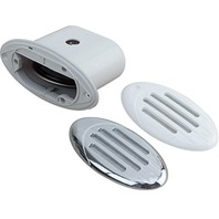 MARINE BOAT Drop-In Hidden Horn Compact V.2 Horn w/ White & Chrome Grills