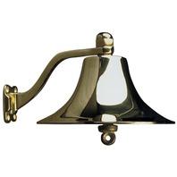 "POLISHED BRASS BELL-Brass; 8"" Diameter Boat Bell"