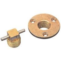 BRONZE GARBOARD DRAIN & T-HANDLE PLUG-Garboard Drain & Plug
