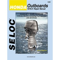 SELOC SERVICE MANUAL, Honda Outboards 1978-01 ALL 2-130 Hp 1 to 4-CYL  4-stroke