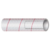 """CLEAR PVC TUBING WITH RED TRACER-1/2"""" x 50'"""