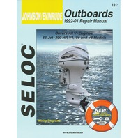 SIERRA SELOC MARINE ENGINE REPAIR MANUALS, JOHNSON/EVINRUDE/BRP-1992 -01, all 65-300 Hp, V4, V6, & V8 engines incl. Jet Drives