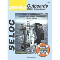 SIERRA SELOC MARINE ENGINE REPAIR MANUALS, JOHNSON/EVINRUDE/BRP-1990-2001, Inline, 1.25-70 Hp,1-4 cylinder,2 & 4-stroke,incl.Fuel Injection/Jet