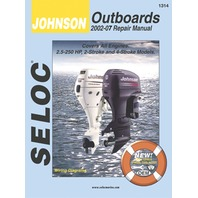 SIERRA SELOC MARINE ENGINE REPAIR MANUALS, JOHNSON/EVINRUDE/BRP-Johnson 2002 -07, all 2.5 - 250 Hp 2 & 4-stroke