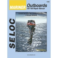 SIERRA SELOC MARINE ENGINE REPAIR MANUALS, MERCURY/MARINER-Mariner 1977-89, 2-60 Hp, 1 & 2-cylinder, 2-stroke