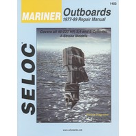 SIERRA SELOC MARINE ENGINE REPAIR MANUALS, MERCURY/MARINER-Mariner 1977-89, 3 & 4-cylinder, in-line 6, V6, 2-stroke incl. fuel injected units
