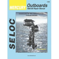 SIERRA SELOC MARINE ENGINE REPAIR MANUALS, MERCURY/MARINER-Mercury 1965-89, 2-40 Hp, 1 & 2-cylinder, 2-stroke