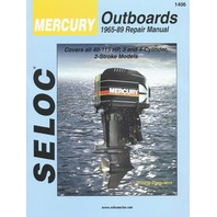 SIERRA SELOC MARINE ENGINE REPAIR MANUALS, MERCURY/MARINER-Mercury 1965-89,  40-115 Hp, 3 & 4-cylinder, 2-stroke