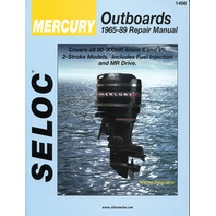 SIERRA SELOC MARINE ENGINE REPAIR MANUALS, MERCURY/MARINER-Mercury 1965-89, 90-300 Hp in-line 6 & V6, 2-stroke incl. fuel injected units & MR drive