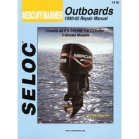 SIERRA SELOC MARINE ENGINE REPAIR MANUALS, MERCURY/MARINER-Mercury/Mariner 1990-00, All 2 Stroke 2.5 - 275 Hp, incl. Fuel Injection and Jet Drives