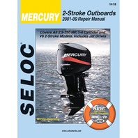 SIERRA SELOC MARINE ENGINE REPAIR MANUALS, MERCURY/MARINER-Mercury 2001-14, All 2 Stroke  2.5-250 Hp All 2-stroke