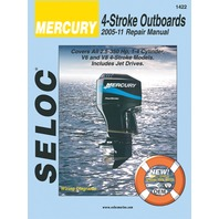 SIERRA SELOC MARINE ENGINE REPAIR MANUALS, MERCURY/MARINER-Mercury/Mariner 2005-2011, All 4-Stroke 2.5 - 350 Hp, 1-4 Stroke models  incl. Jet Drives
