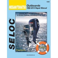 SIERRA SELOC MARINE ENGINE REPAIR MANUALS, NISSAN/TOHATSU-1992-2013, all 2.5-140 Hp, 2 & 4-stroke,  incl. EFI and TLDI