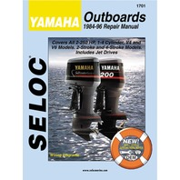 SIERRA SELOC MARINE ENGINE REPAIR MANUALS, YAMAHA-1984-96,  all 2 -250 Hp 1-4 Cyl. V4 & V6, 2 & 4 Stroke incl. Jet Drives