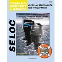 SIERRA SELOC MARINE ENGINE REPAIR MANUALS, YAMAHA/MERCURY/MARINER-1995-04, 2.5 - 225 Hp 1-4 Cyl. V4 & V6 4-Stroke incl. Jet Drives