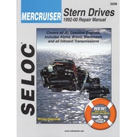SIERRA SELOC MARINE ENGINE REPAIR MANUALS, MERCRUISER STERN DRIVE-1992-2000,all gas engines & drive systems, incl.  Velvet & ZF/Hurth