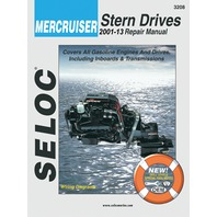 SIERRA SELOC MARINE ENGINE REPAIR MANUALS, MERCRUISER STERN DRIVE-2001-13, all gas engines & drive systems, incl.Velvet & ZF/Hurth