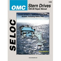 SIERRA SELOC MARINE ENGINE REPAIR MANUAL, OMC STERN DRIVE-1964-86 GM V6 & V8