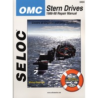 "SIERRA SELOC MARINE ENGINE REPAIR MANUALS, OMC STERN DRIVE-1986-98, all Cobra, King Cobra & Cobra ""SX"" stern drive units by Ford & GM 4-cyl. V6 /V8 engines"
