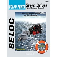 SIERRA SELOC MARINE ENGINE REPAIR MANUALS, VOLVO/PENTA STERN DRIVE-1992-02, all gas engine models by Ford & GM, incl. all drive systems