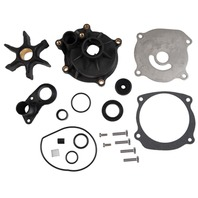 WATER PUMP KITS WITH HOUSING, JOHNSON/EVINRUDE/BRP-434421; Impeller(395864/397131/435821)Cup&Plate(435027)Key(331107)O-Ring(310967/310585)Screw(2)(306643)Grommets(314008&320943&321008)Bolts((4)323626&(4)331979)Seal(332000)Gasket(324701/338484)