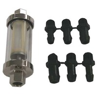 """CLEARVIEW INLINE FUEL FILTER KIT-Universal Inline Filter Kit with 1/4"""", 5/16"""" & 3/8"""" Barbs"""