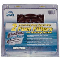 "FUEL WATER SEPARATOR KIT, BONUS PACK-1/4"" Alum Bracket (18-7853-1) w/two 18-7844 21 Micron Short Filters"