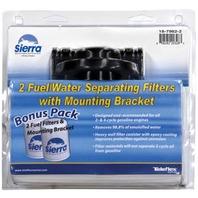 "FUEL WATER SEPARATOR KIT, BONUS PACK-1/4"" Alum Bracket (18-7853-1) w/two 18-7945 10 Micron Tall Filters"