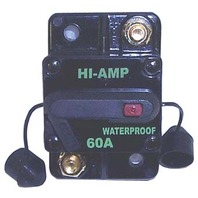 CB60000-1 WATERPROOF HIGH AMPERAGE CIRCUIT BREAKER, 60 AMP