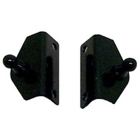 "NAUTALIFT  ANGLED SUPPORT BRACKETS-2"" x .65"", Black Zinc Plated Steel"