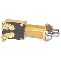 PUSH BUTTON SWITCHES, BRASS-Momentary On-Off, SPST