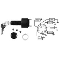 Sierra Boat ELECTRONIC IGNITION SWITCH 3-POS, 6 TERM-Off-Run-Start Switch OMC