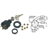 Sierra Boat IGNITION SWITCH, 4-POS, 7 TERM MAGNETO-Accessory-Off-On-Start Switch