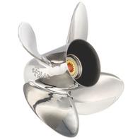 HR TITAN4 (E) Stainless 4-Blade 14-1/4 X 17 Left Hand Propeller for Yamaha 150-300HP