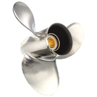 SATURN (A) 9-1/4 X 10 STAINLESS PROPELLER for 9.9-15HP BRP/JOHNSON/SUZUKI Outboard