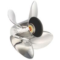 HR Titan Stainless Steel 4-Blade 13 x 21 Prop for Honda 75-130 HP