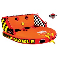 "SUPER MABLE MULTIPLE POSITION TOWABLE-Super Mable Tube, 3-Rider, 75"" x 73"""